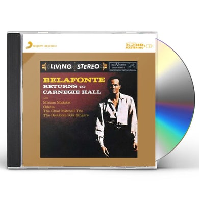 Harry Belafonte RETURNS TO CARNEGIE HALL CD