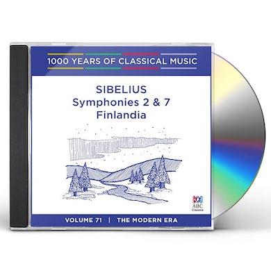 SIBELIUS: SYMPHONIES 2 & 7 / FINLANDIA CD