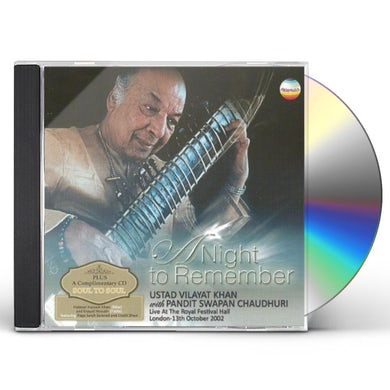 Vilayat Khan NIGHT TO REMEMBER:LIVE AT THE ROYAL FESTIVAL HALL CD