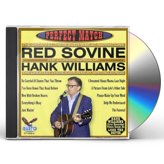 Red Sovine PERFECT MATCH-SONGS OF HANK WILLIAMS CD