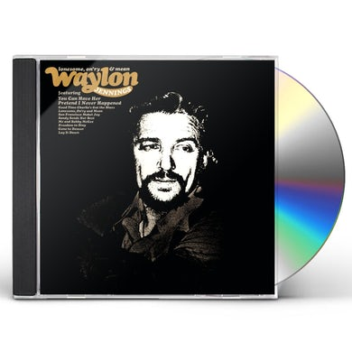 Waylon Jennings LONESOME ON'RY & MEAN CD