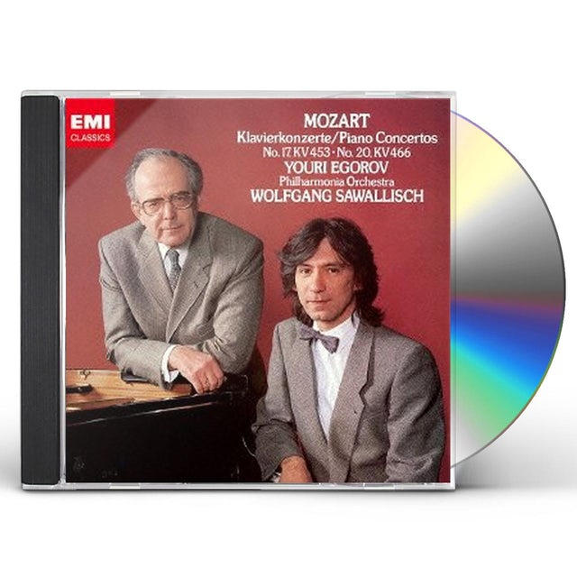 W.A. Mozart PIANO CONCERTO NO.17 & 20 CD