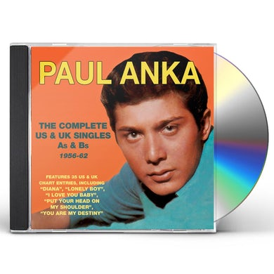 Paul Anka COMPLETE US & UK SINGLES AS & BS 1956-62 CD
