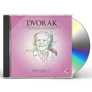 Dvorak SLAVONIC DANCE 3 FOUR HAND PIANO A-FLAT MAJ 46 CD
