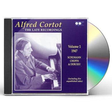 Alfred Cortot LATE RECORDINGS 1 1947 CD