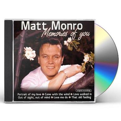 Matt Monro MEMORIES OF YOU CD