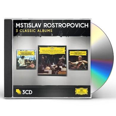 Mstislav Rostropovich ROSTROPOVICH: THREE CLASSIC ALBUMS CD