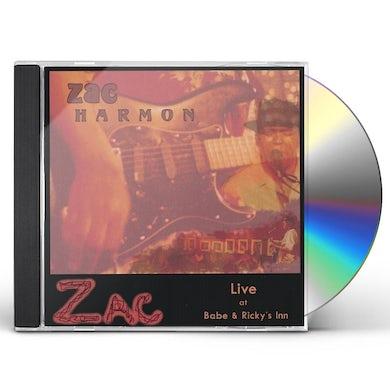 Zac Harmon LIVE AT BABE & RICKY'S INN CD