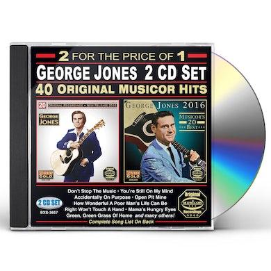 George Jones 40 ORIGINAL MUSICOR HITS CD