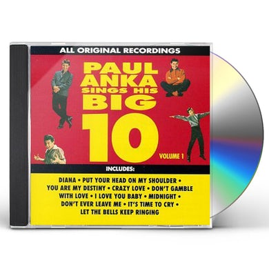 Paul Anka SING HIS BIG TEN 1 CD