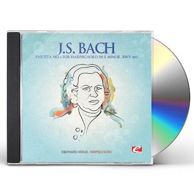 J.S. Bach PARTITA NO. 6 FOR HARPSICHORD IN E MINOR CD