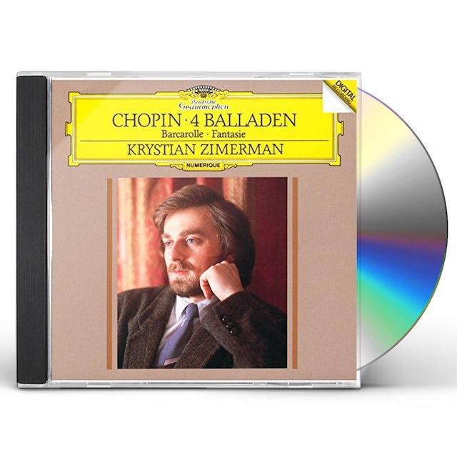 Chopin / Krystian Zimerman CHOPIN: 4 BALLADES / FANTAISIE CD