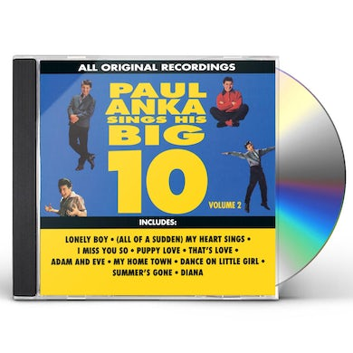Paul Anka SINGS HIS BIG TEN 2 CD