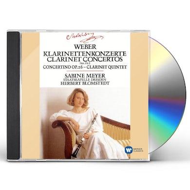 WEBER: CLARINET CONCERTOS 1 & 2/CONCERTINO E FLAT CD