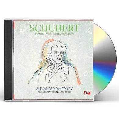 Schubert SYMPHONY NO. 3 IN D MAJOR D.200 CD