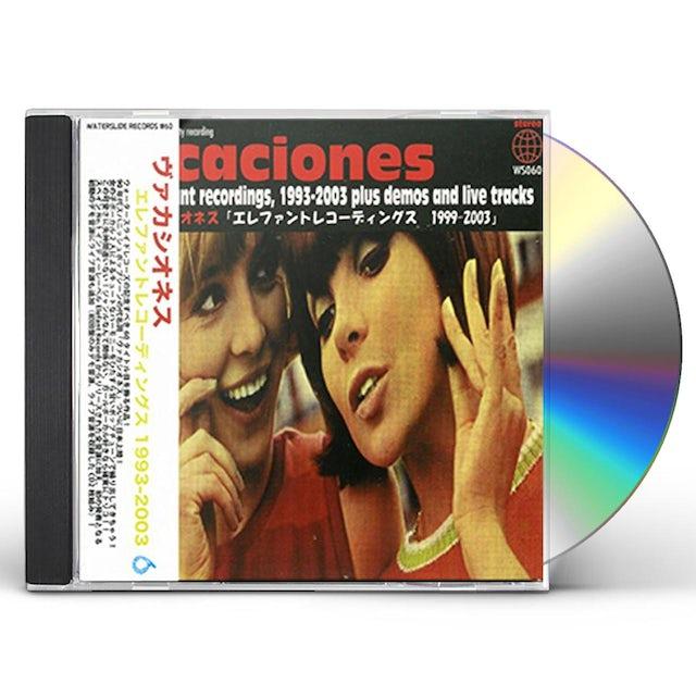 Vacaciones ALL THE ELEFANT RECORDINGS 1999-2003 CD
