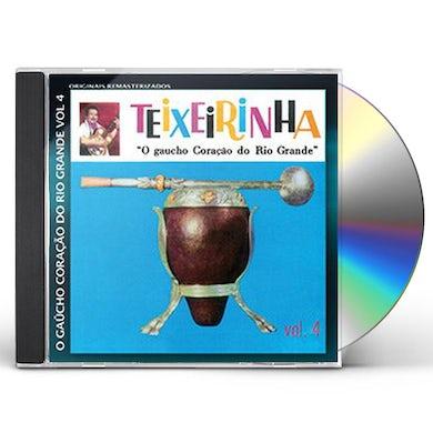 Teixeirinha GAUCHO CORACAO DO RIO GRANDE 4 CD