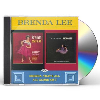 Brenda Lee BRENDA THAT'S ALL / ALL ALONE AM I CD