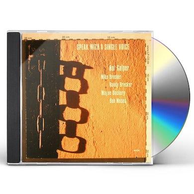 Hal Galper SPEAK WITH A SINGLE VOICE CD