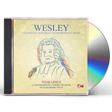WESLEY CONCERTO NO. 4 FOR ORGAN & ORCHESTRA IN C MAJOR CD