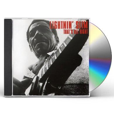 Lightnin Slim THAT'S ALL RIGHT CD
