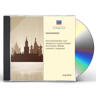 Jorge Bolet RACHMANINOV: PIANO CONCERTOS 2 & 3 CD