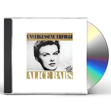 Alice Babs UNVERGESSENE ERFOLGE CD