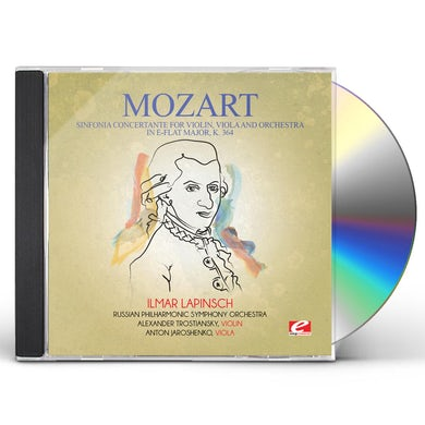 Wolfgang Amadeus Mozart SINFONIA CONCERTANTE FOR VIOLIN VIOLA & ORCHESTRA CD