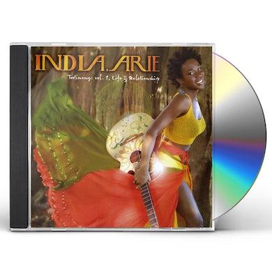 India.Arie TESTIMONY 1: LIFE & RELATIONSHIP CD