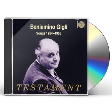 Beniamino Gigli SONGS 1954-55 CD