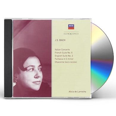 Alicia de Larrocha BACH: PIANO WORKS CD
