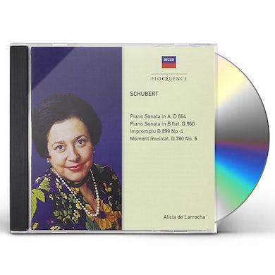 Alicia de Larrocha SCHUBERT: PIANO SONATAS D664 & 960 CD