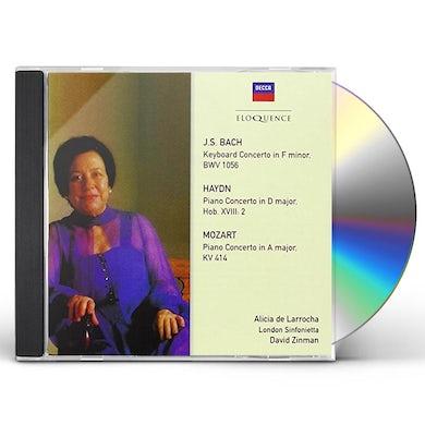 Alicia de Larrocha BACH MOZART HAYDN: CONCERTOS CD