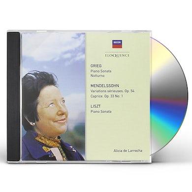 Alicia de Larrocha GRIEG: SONATA. LISZT: SONATA. MENDELSSOHN CD