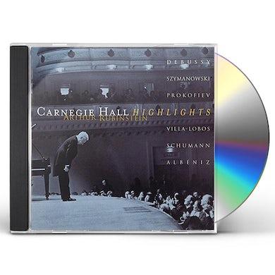 Arthur Rubinstein CARNEGIE HALL RECITAL HIGHLIGHTS CD