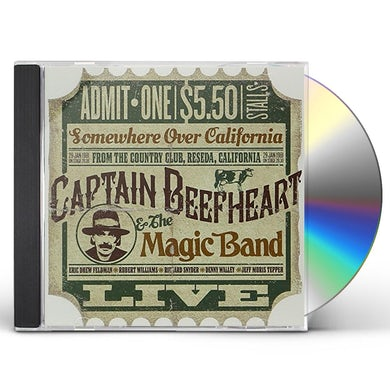 Captain Beefheart LIVE AT THE COUNTRY CLUB RESEDA CALIFORNIA 1981 CD