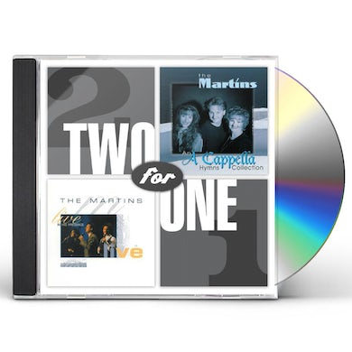 Martins TWO FOR ONE: LIVE IN HIS PRESENCE / A CAPPELLA HYM CD