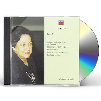 Alicia de Larrocha FALLA: PIANO MUSIC CD