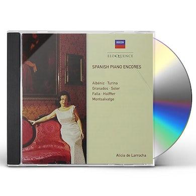 Alicia de Larrocha SPANISH PIANO ENCORES CD