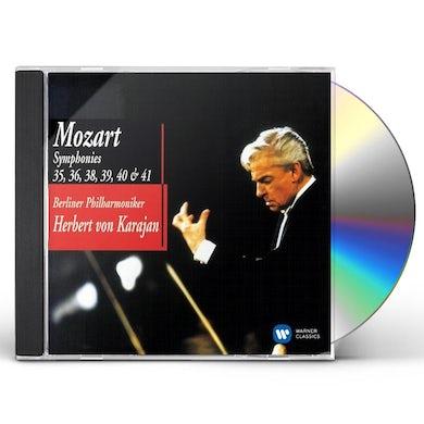 Herbert Von Karajan  MOZART SYMPHONIES 35 36 38 39 40 & 41 CD
