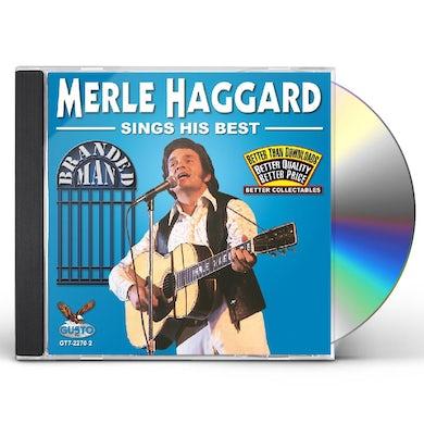 Merle Haggard SINGS HIS BEST: BRANDED MAN CD