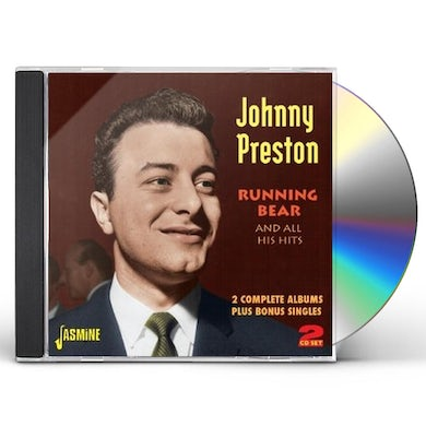 Johnny Preston RUNNING BEAR & ALL HIS HITS-2 COMPLETE ALBUMS PLUS CD