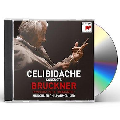 Sergiu Celibidache BRUCKNER: SYMPHONY 4 ROMANTIC CD