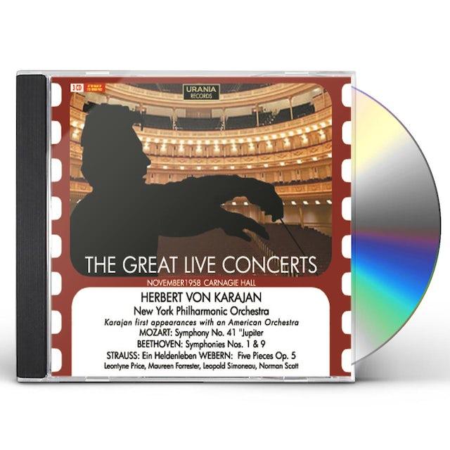 Herbert Von Karajan GREAT LIVE CONCERTS CD