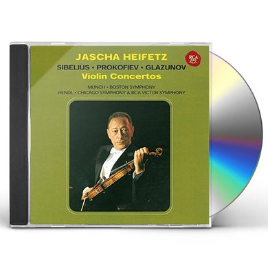 Jascha Heifetz SIBELIUS PROKOFIEV GLASNOV: VIOLIN CD