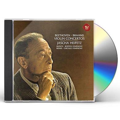 Jascha Heifetz BEETHOVEN & BRAHMS: VIOLIN CONCERTOS CD