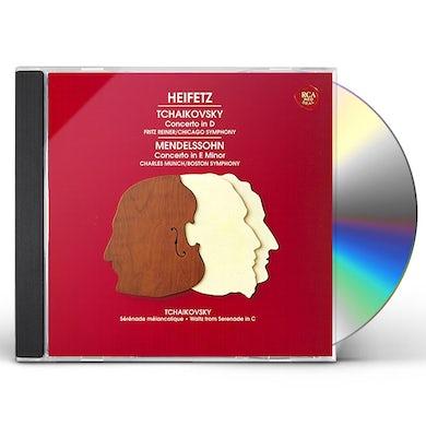 Jascha Heifetz MENDELSSOHN & TCHAIKOVSKY: VIOLIN CONCERT CD
