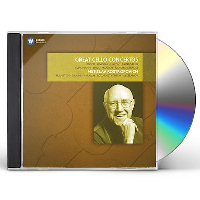 Mstislav Rostropovich GREAT CELLO CONCERTOS CD