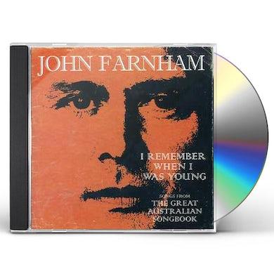 John Farnham REMEMBER WHEN I WAS YOUNG CD