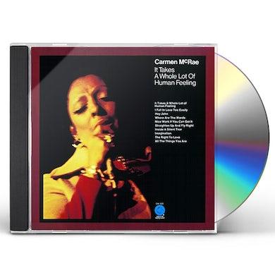 Carmen McRae IT TAKES A WHOLE LOT OF HUMAN FEELING CD